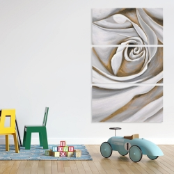 Canvas 40 x 60 - White rose closeup