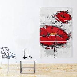 Canvas 40 x 60 - Texturized red poppies