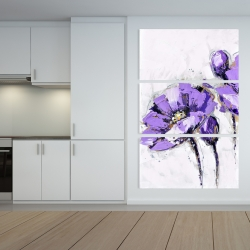 Canvas 40 x 60 - Purple abstract flowers