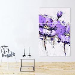 Canvas 40 x 60 - Purple anemone flowers