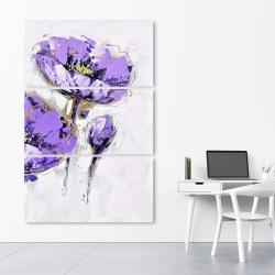 Canvas 40 x 60 - Purple anemones