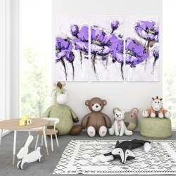 Canvas 40 x 60 - Abstract purple flowers