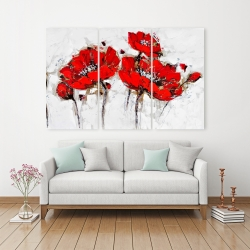 Canvas 40 x 60 - Abstract poppy flowers