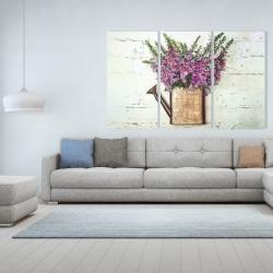 Canvas 40 x 60 - Purple foxglove flowers