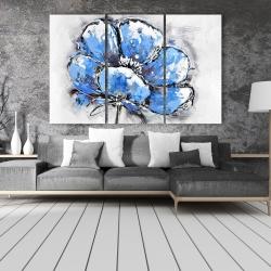 Canvas 40 x 60 - Abstract blue petals