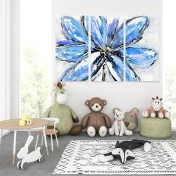 Canvas 40 x 60 - Blue flower