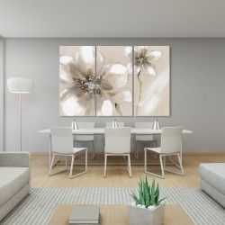 Canvas 40 x 60 - Two cream flowers
