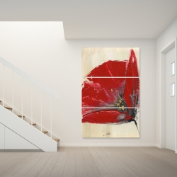 Canvas 40 x 60 - Three red flowers