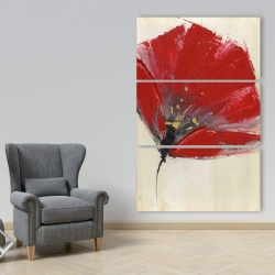 Canvas 40 x 60 - Two red flowers