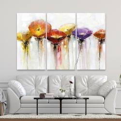 Canvas 40 x 60 - Multiple colorful abstract flowers