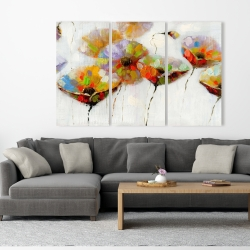 Canvas 40 x 60 - Color dotted flowers