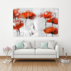 Canvas 40 x 60 - Red flowers