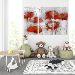 Canvas 40 x 60 - Abstract poppies