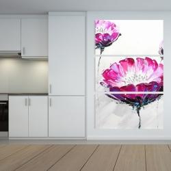 Canvas 40 x 60 - Pink wild flowers