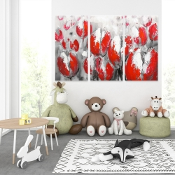 Canvas 40 x 60 - Abstract red tulips
