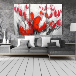 Canvas 40 x 60 - Red tulips