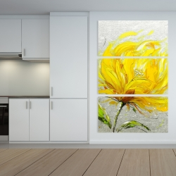 Canvas 40 x 60 - Yellow fluffy flower