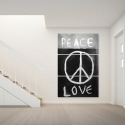Canvas 40 x 60 - Peace love monochrome