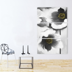 Canvas 40 x 60 - Black and white flowers