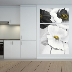 Canvas 40 x 60 - Assorted white flowers