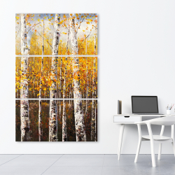 Canvas 40 x 60 - Birches by sunny day