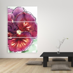Canvas 40 x 60 - Blossoming orchid with wavy petals