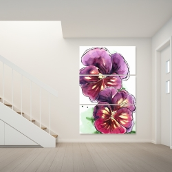 Canvas 40 x 60 - Two blossoming orchid with wavy petals
