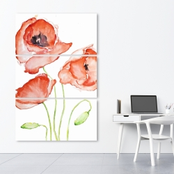 Canvas 40 x 60 - Watercolor poppies