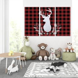 Canvas 40 x 60 - Deer plaid