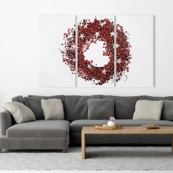 Canvas 40 x 60 - Red berry wreath