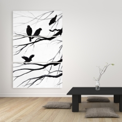 Canvas 40 x 60 - Silhouette of birds