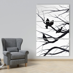 Canvas 40 x 60 - Birds and branches silhouette