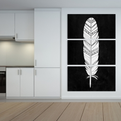Canvas 40 x 60 - Native american feather