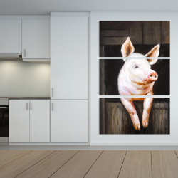 Canvas 40 x 60 - Smiling pig
