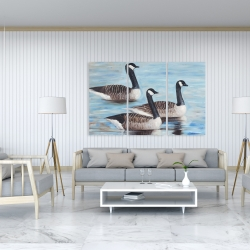Canvas 40 x 60 - Canada geese in water