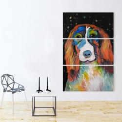 Canvas 40 x 60 - Colorful dog
