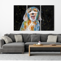 Canvas 40 x 60 - Abstract labradoodle