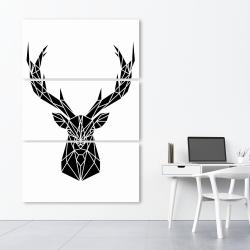 Canvas 40 x 60 - Geometric deer head