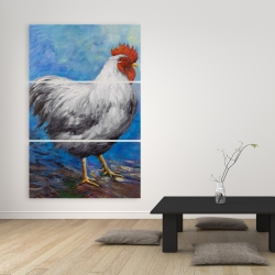 Canvas 40 x 60 - Grey rooster