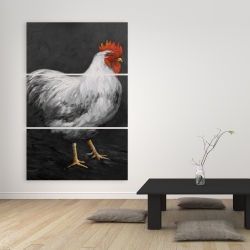 Canvas 40 x 60 - Grey rooster 2