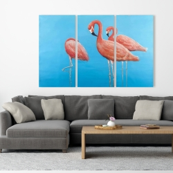 Canvas 40 x 60 - Group of flamingos