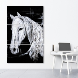Canvas 40 x 60 - Abstract horse profile view