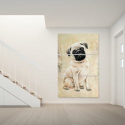 Canvas 40 x 60 - Small pug