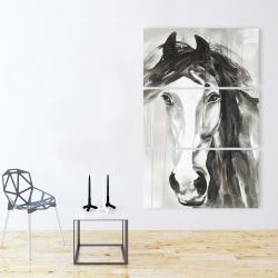 Canvas 40 x 60 - Beautiful wild horse