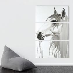 Canvas 40 x 60 - Beautiful white horse
