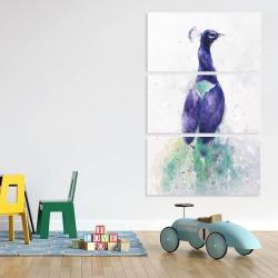 Canvas 40 x 60 - Graceful peacock