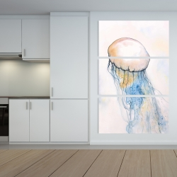 Canvas 40 x 60 - Watercolor jellyfish