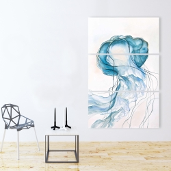 Canvas 40 x 60 - Jellyfish moving