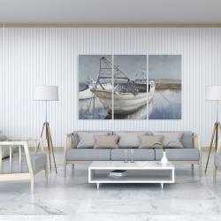 Canvas 40 x 60 - Blue fishing boat