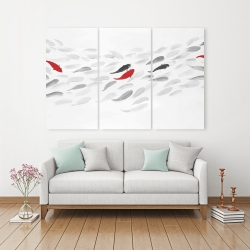Canvas 40 x 60 - Swimming fish wave